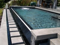 Infinity Edge Pool with Coverstar Automatic Pool and Spa c ...