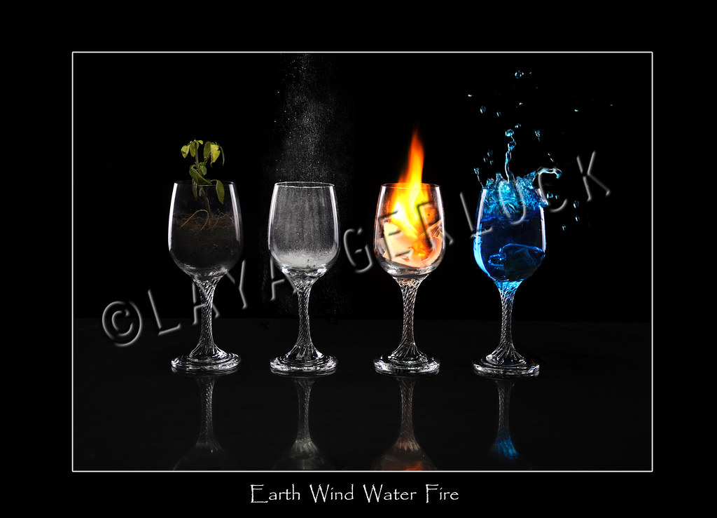 Cyan Wallpaper Hd Earth Wind Fire Water Different Exposure For The Fire