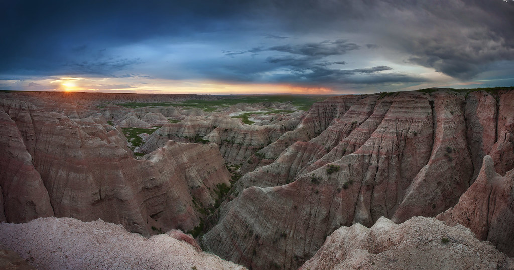 Heat Wallpaper Hd Sioux Sunrise United States South Dakota Badlands Nat