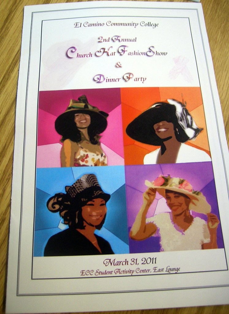 Dinner Free Program From El Camino College's 2nd Annual Church Hat Fas