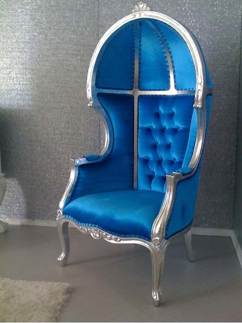 Philippe Starck 4028 Balloon Chair Tufted Blue Velvet | Go Back In Time