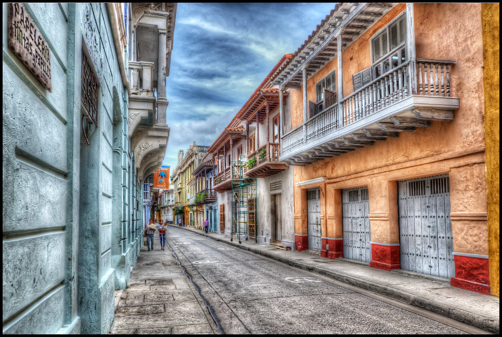 Black Wallpaper Iphone 6 Cartagena Colombia View Of A Street In Cartagena
