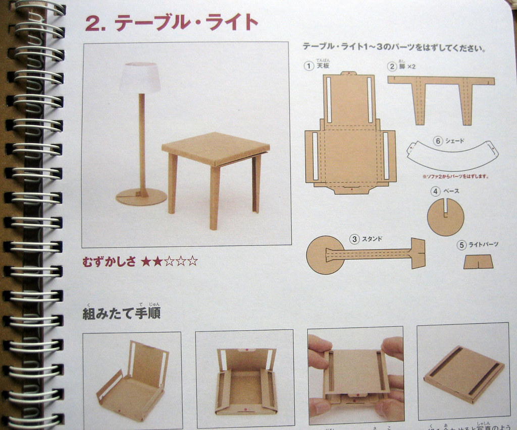 Como Hacer Una Silla Para Trabajos Verticales Muji Book Of Fold Up Cardboard Furniture This Little