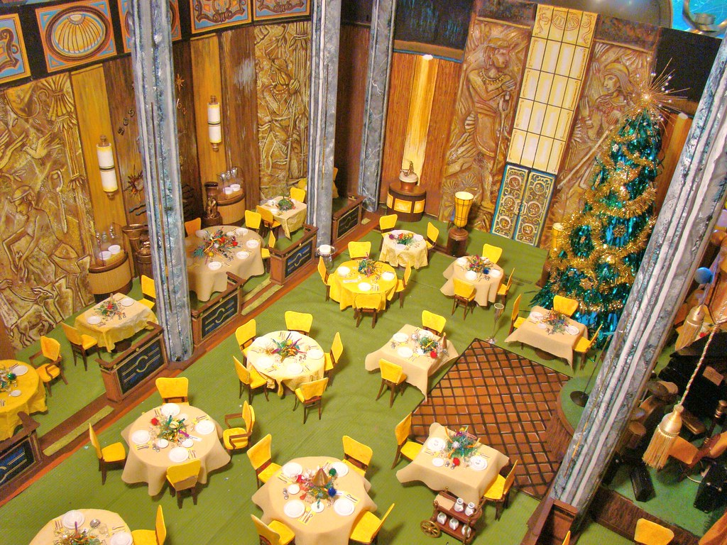 Salon Miniature Poseidon Adventure Ballroom Diorama | A One-sixth Scale