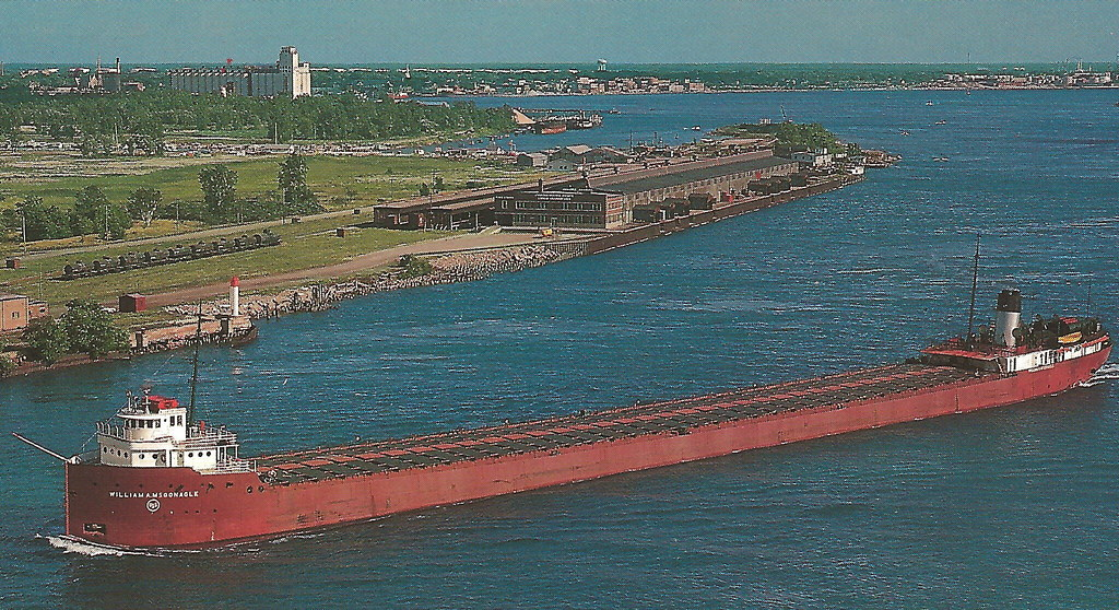 And Port Se Port Huron Mi St Clair Great Lakes Freighter Traffic Us