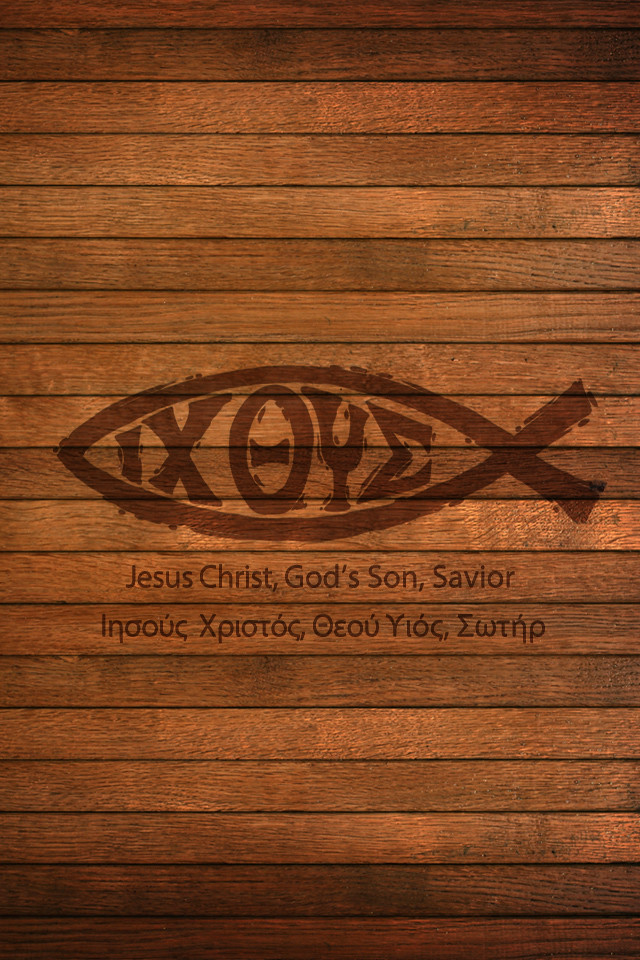 3d Jesus Christ Live Wallpaper Jesus Fish Ichthys Ichthus 640x960 Iphone Background