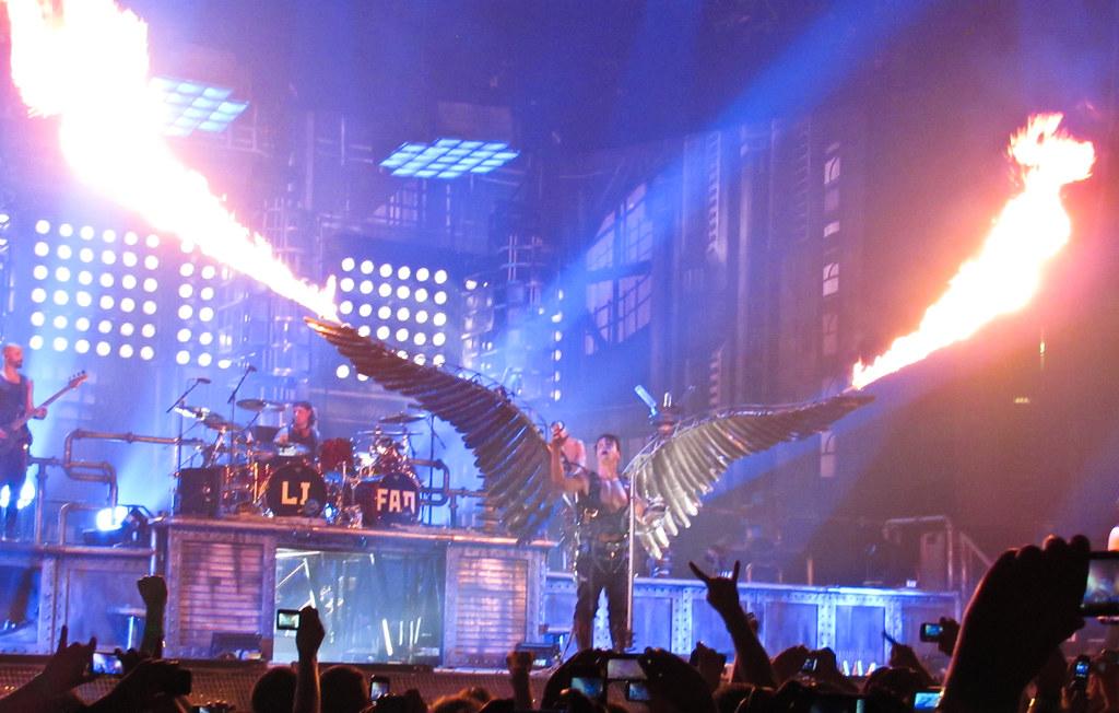 Imagine Hd Wallpaper Rammstein Concert In New York Rammstein Concert With