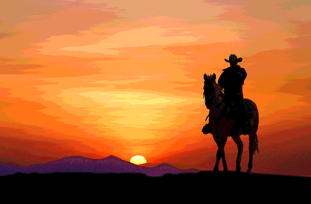 Good Night Wallpapers With Quotes Free Download Cowboy Sunset Jim Glab Flickr