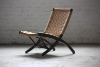 ***ON DECK*** Pristine Mid Century Modern Woven Folding ...