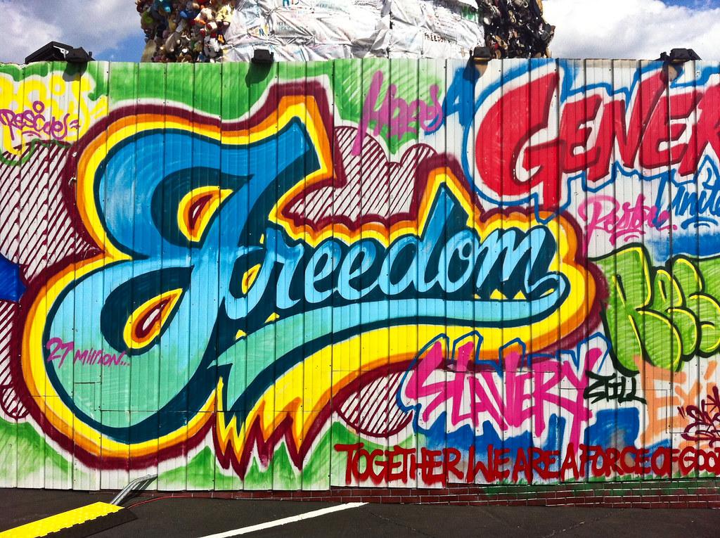 3d Street Art Graffiti Wallpaper Freedom Graffiti Taylor Davis Flickr