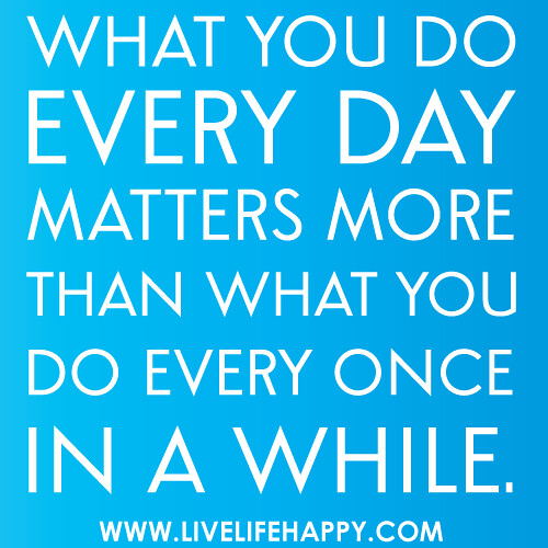 Consistency Quotes Wallpaper What You Do Every Day Matters More Than What You Do Every