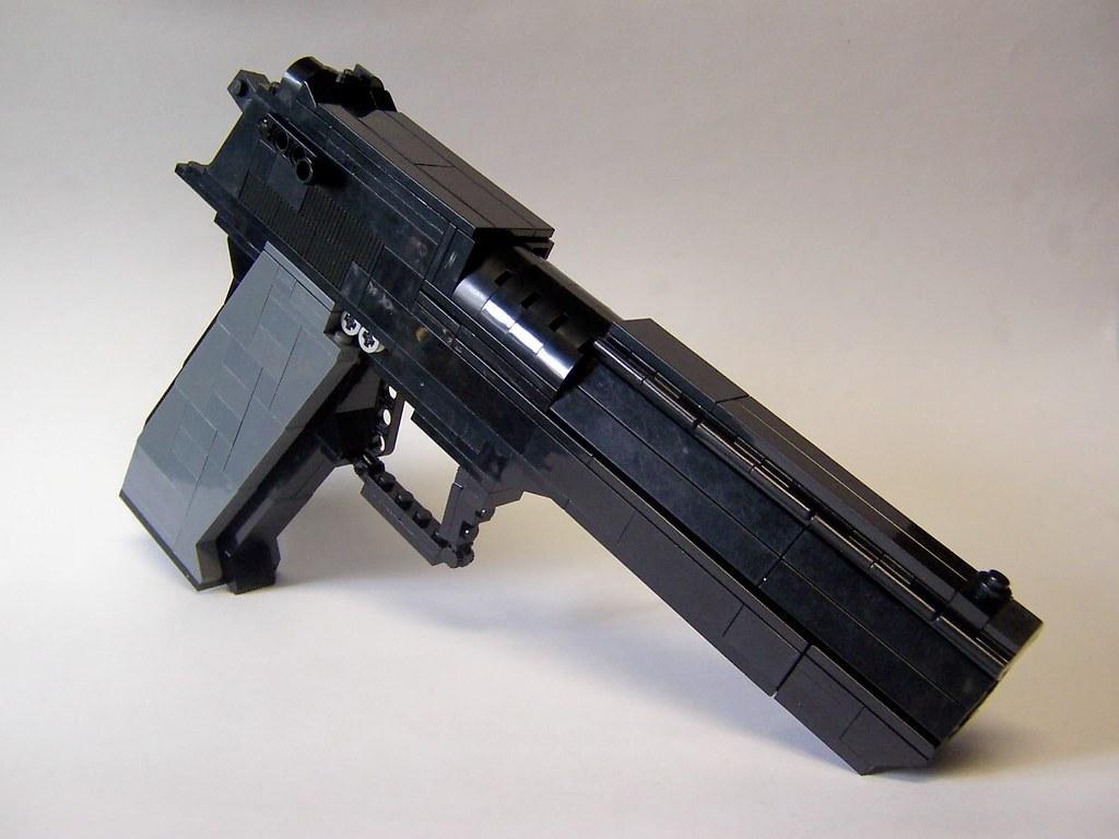 3d White Brick Wallpaper Desert Eagle Lego Firearm The Biggest Replica Firearm So