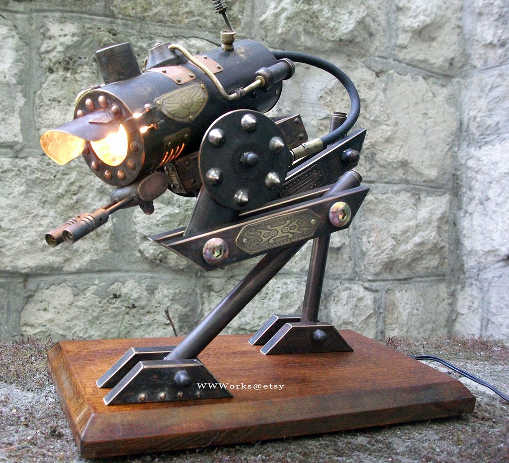 At sp steampunk walker desk lamp a hybrid of a mech and