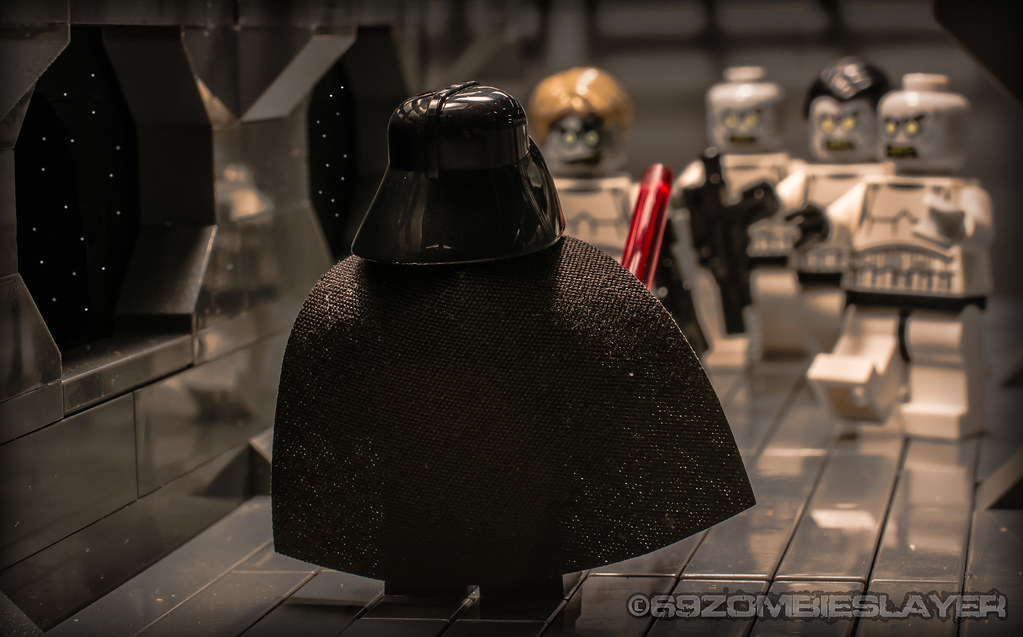 3d White Brick Wallpaper Star Wars And Zombies Lord Vader Began To Think That