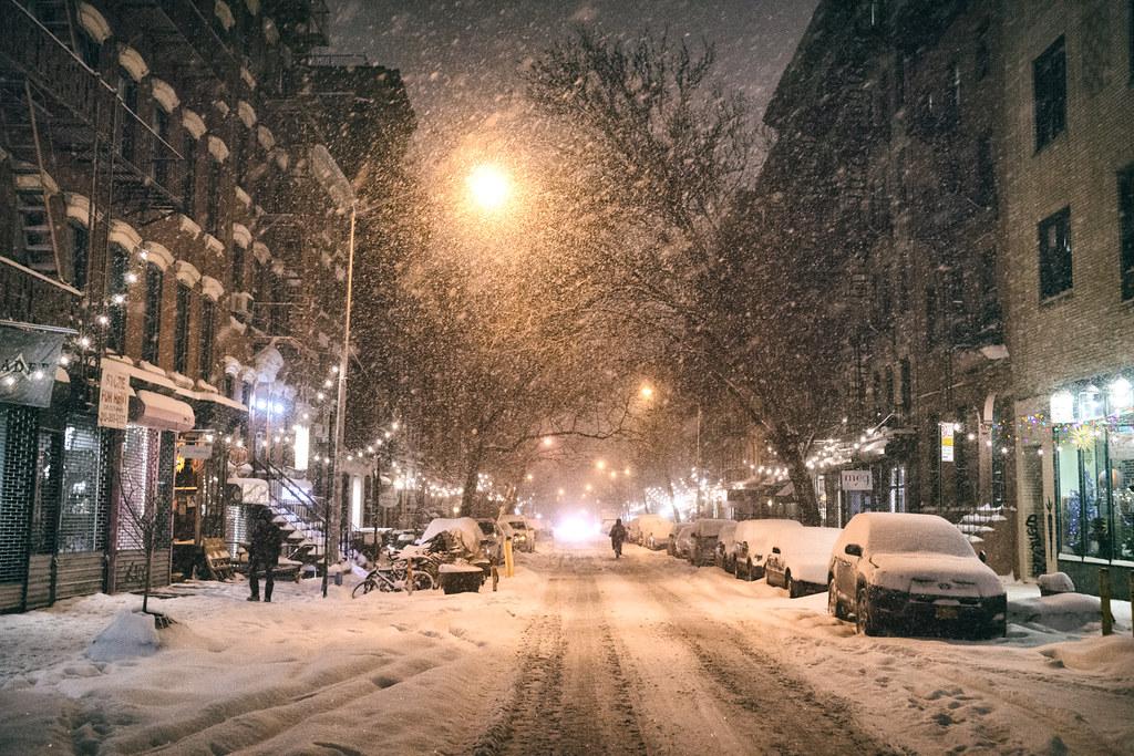 Falling Rain Wallpapers Desktop New York City Snow Janus East Village 9th Street