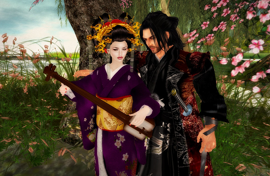3d Picture Wallpaper Samurai And Geisha Crosspost By Koinup Original