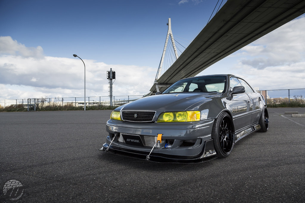 Widebody Drift Car Wallpaper Car Factory M2 Toyota Chaser Jzx100 On Work Emotion D9r