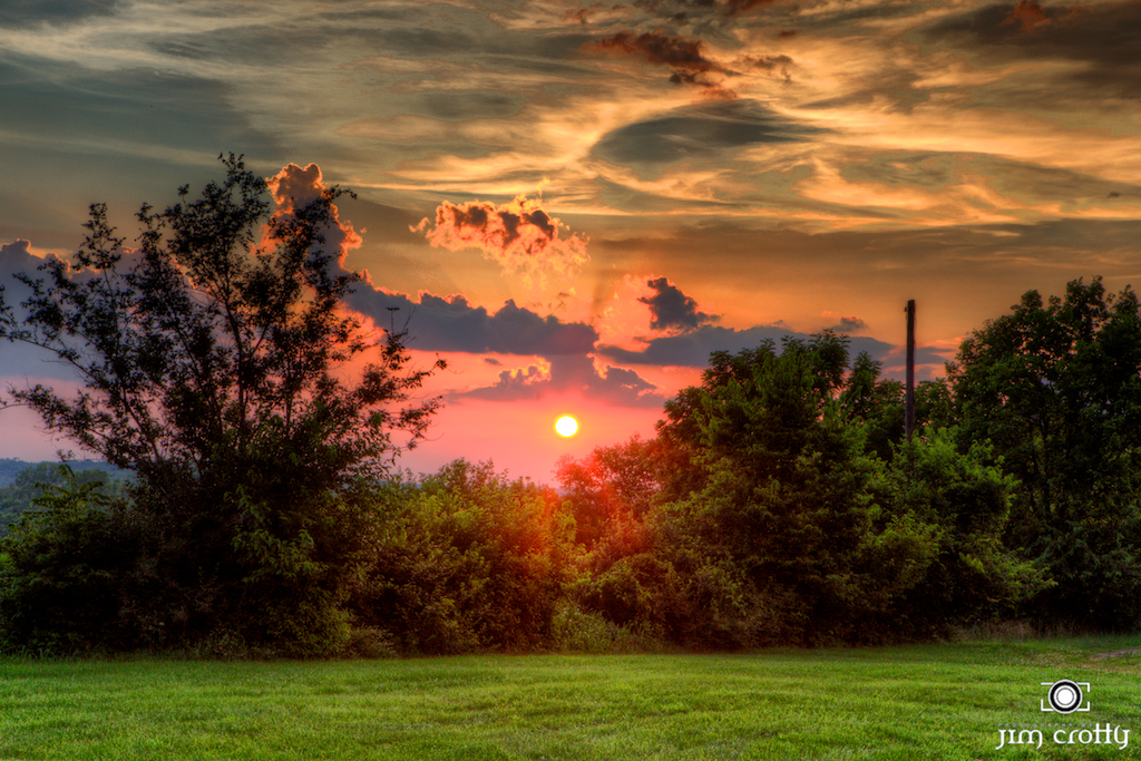 Panoramic Wallpaper Fall July Sunset On The Farm Ohio Landscape Photography By Ji