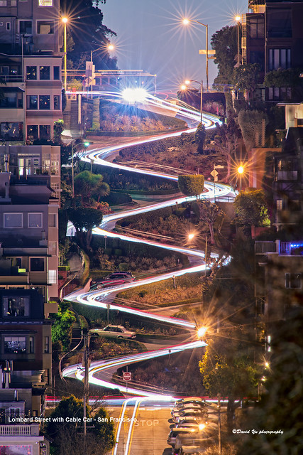 Car Curvy Road Wallpaper Lombard Street With Cable Car San Francisco It Was One