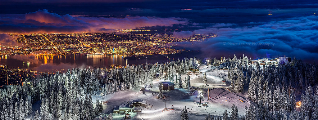 Bing Hd Wallpaper Fall Vancouver City From The Summit Of Grouse Mountain Ski Reso