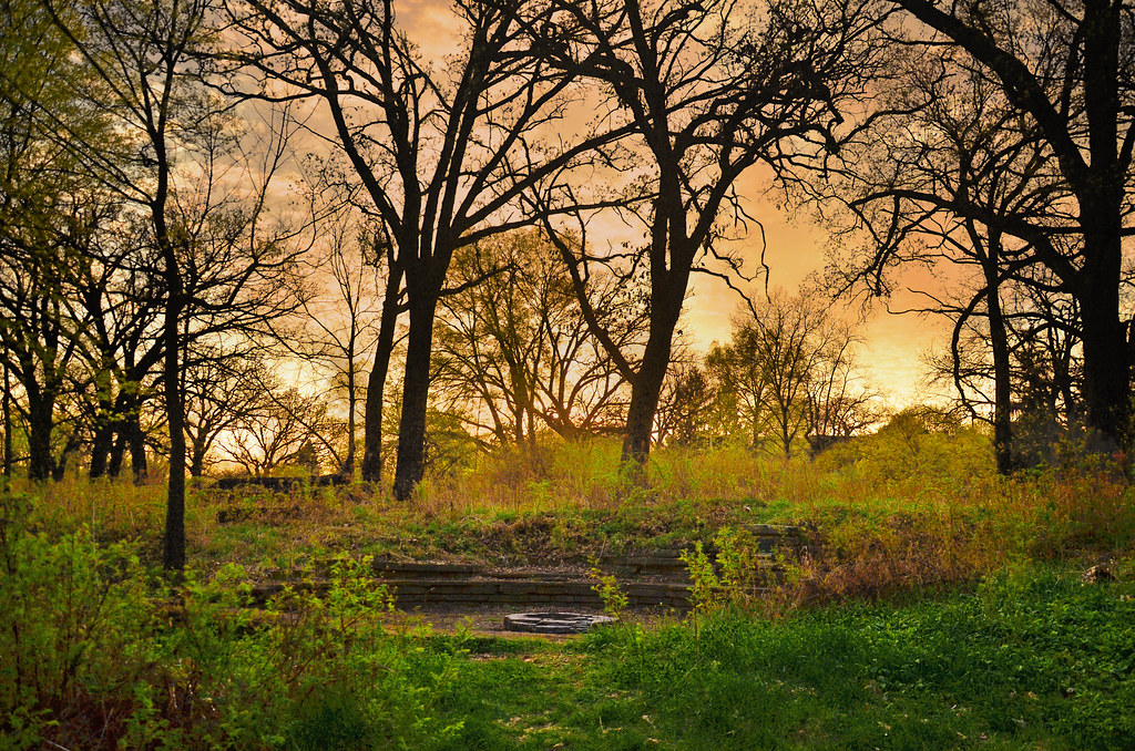 Hd Wallpapers 3d World Map University Of Wisconsin Madison Arboretum Spring Sunset 04