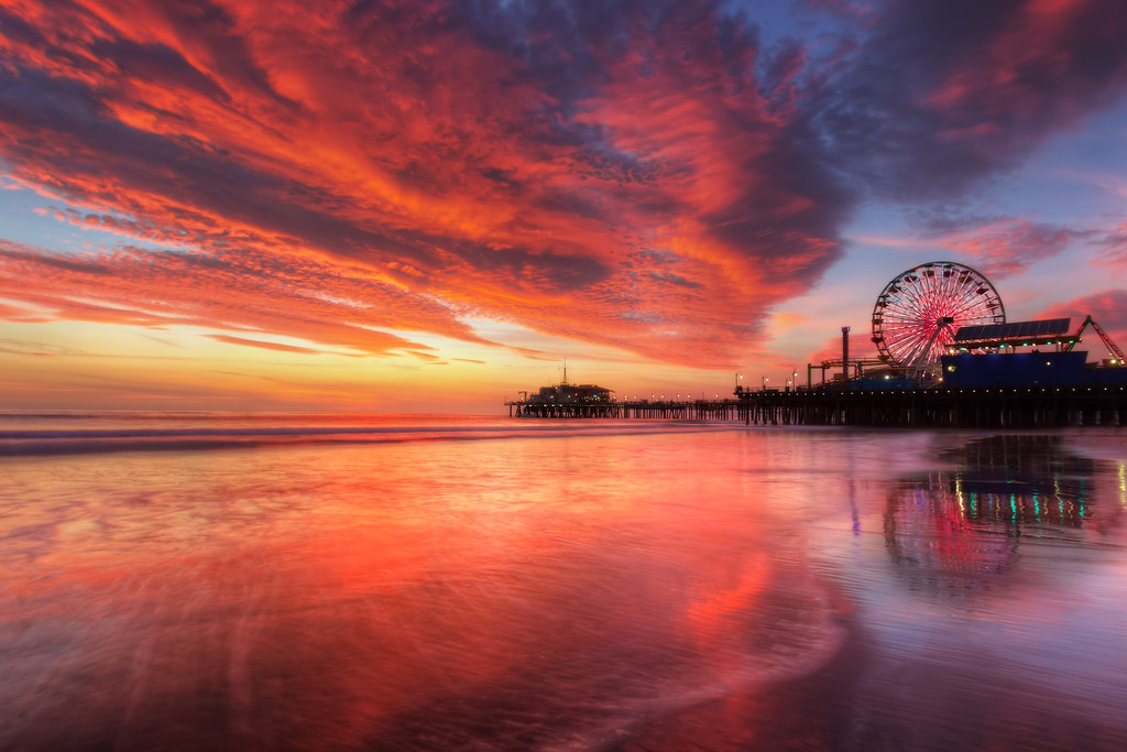 Fall In Chicago Wallpaper Santa Monica Beach Sunset I Took This Photo Just Last