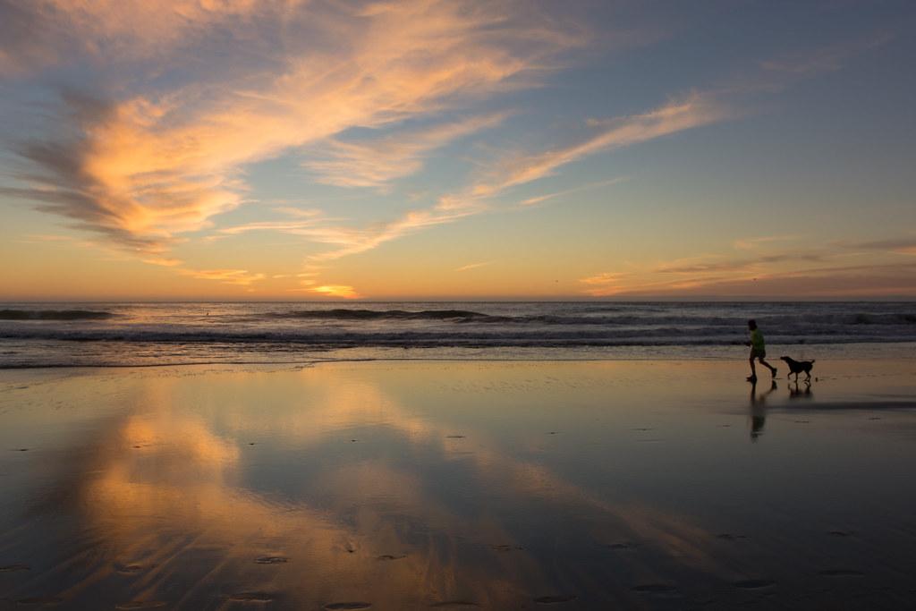 3d Wallpaper Ocean Ocean Beach In Evening Ocean Beach Is Located In San