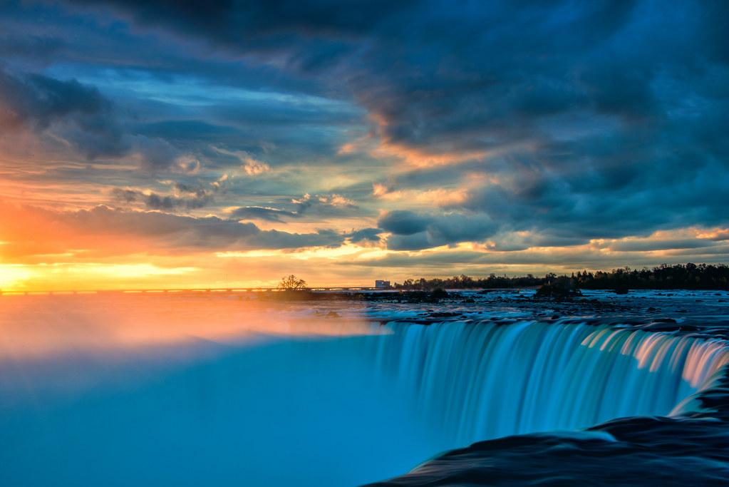 Niagara Falls Hd Wallpaper For Desktop Niagara Falls Sunrise Ontario Explore Highest Position