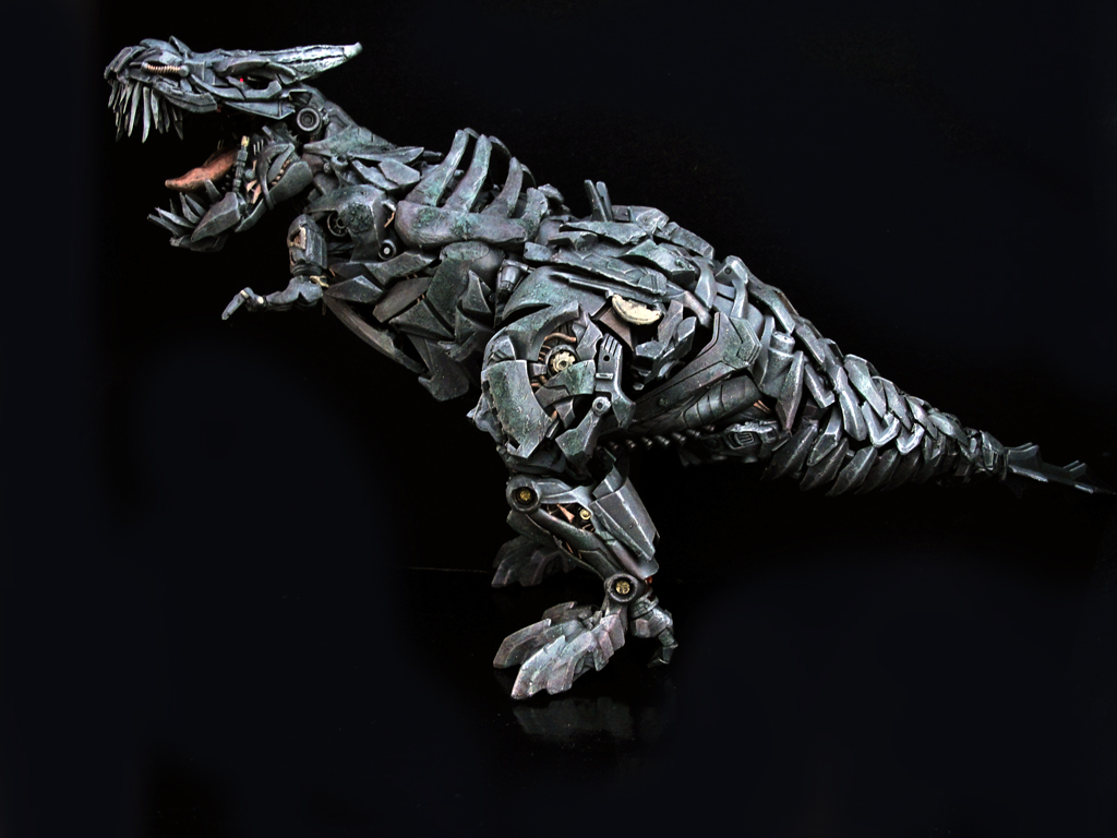 3d Curved Wallpaper Aoe Grimlock This Is A Non Transforming Leader Class