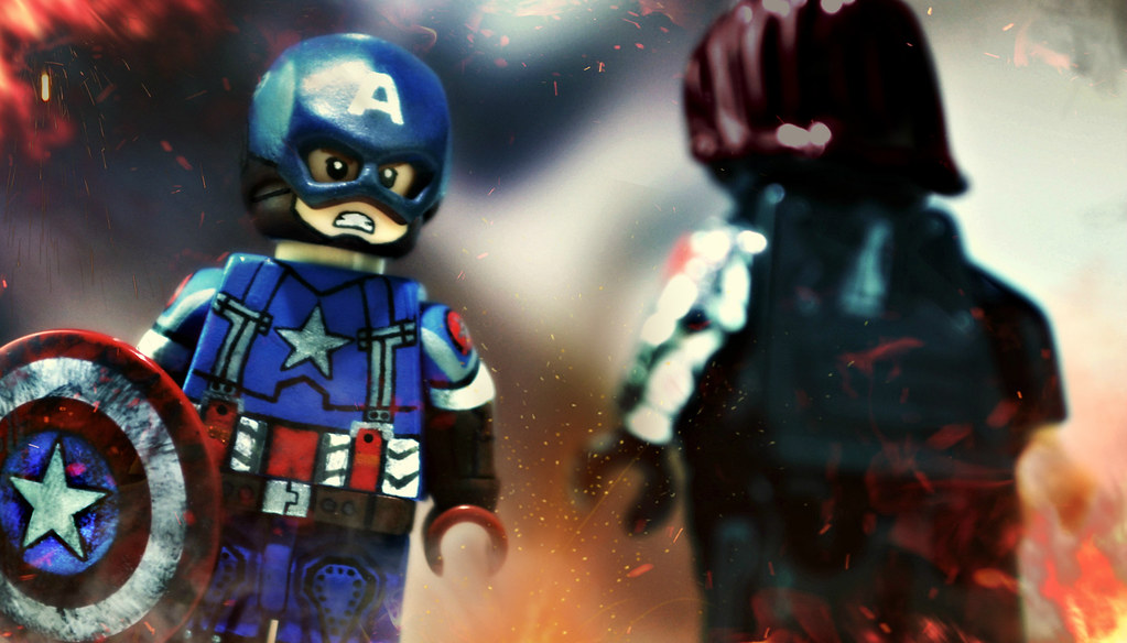 Wallpaper Spiderman 3d Lego Captain America Golden Age Preview I M Not