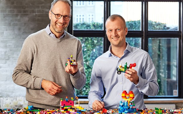 Jørgen Vig Knudstorp, left, with Thomas Kirk Kristiansen, fourth generation owner of the LEGO Group.