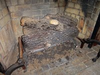 """Vintage Fireplace Vermiculite """"Ashes"""" 
