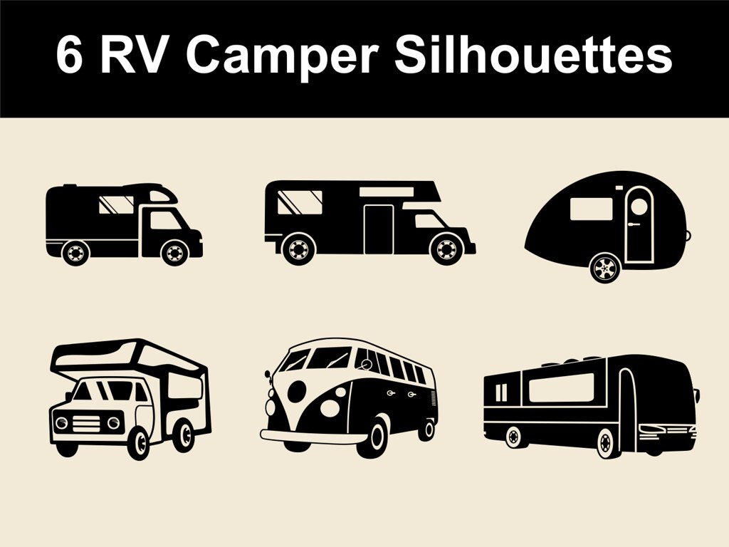 free vector car and bus silhouette