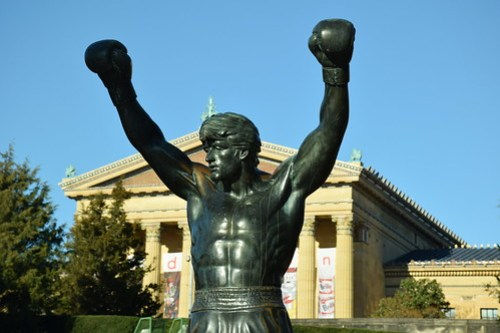Statue of Rocky Balboa | Image via Flickr by tvanhoosear