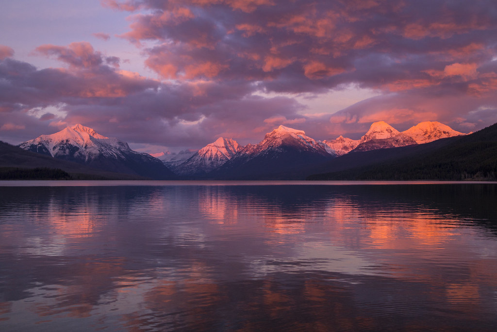 Wallpaper Sunset 3d Lake Mcdonald Sunset 11 20 15 Nps Jacob W Frank