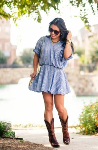 cute & little blog | petite fashion | chambray embroidered ...