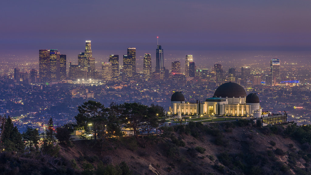 Bing Fall Desktop Wallpaper Griffith Observatory And Dtla Skyline Beautiful Warm
