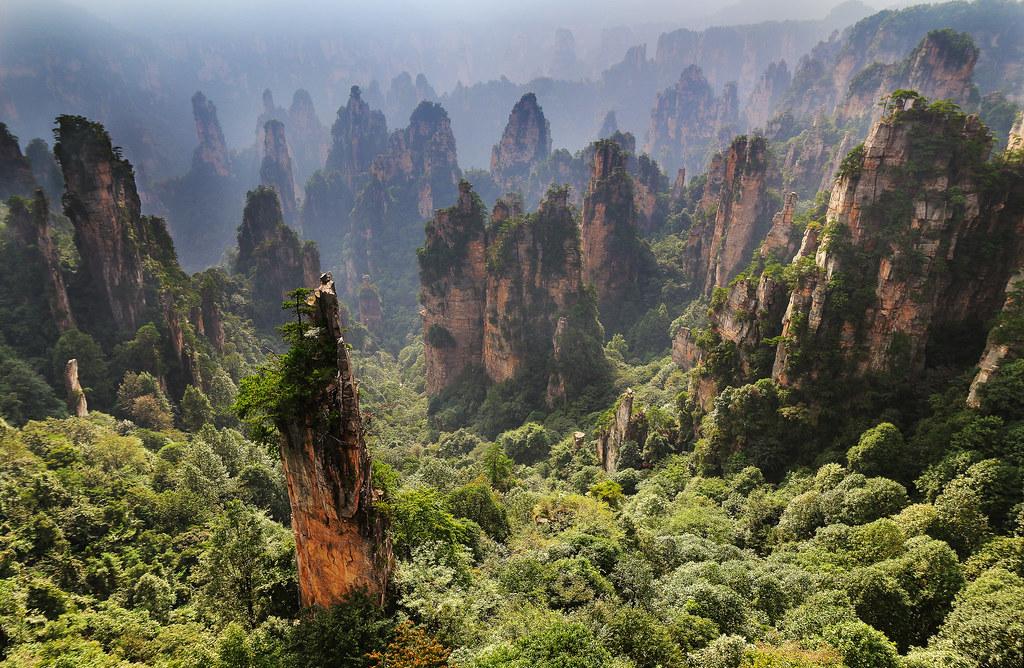 3d Wallpaper Made In China Zhangjiajie National Park Hunan China James Cameron