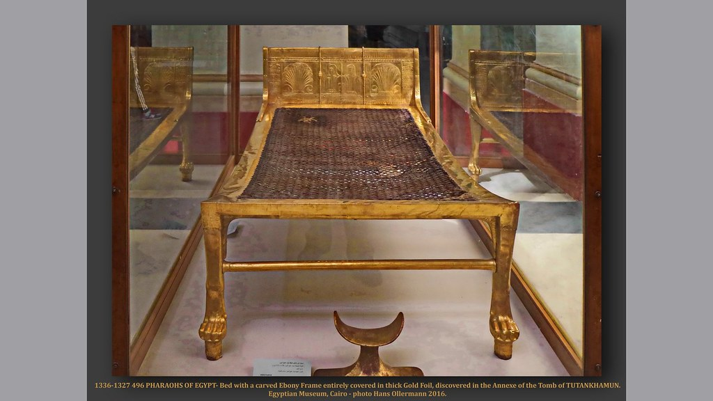1336 1327 496 Pharaohs Of Egypt Bed With A Carved Ebony F