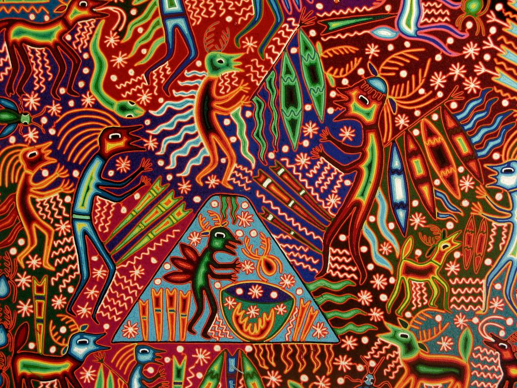 3d World Map Wallpaper For Pc Sue 241 O Huichol Religi 243 N C 243 Smica Jvcluis Flickr