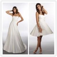Satin Strapless Empire 2 in 1 Wedding Dress