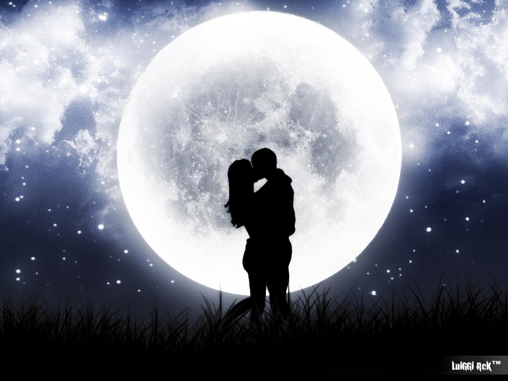 3d Couple Kissing Wallpapers Romantic Full Moon Photoshop Luiggi Marchetti Flickr