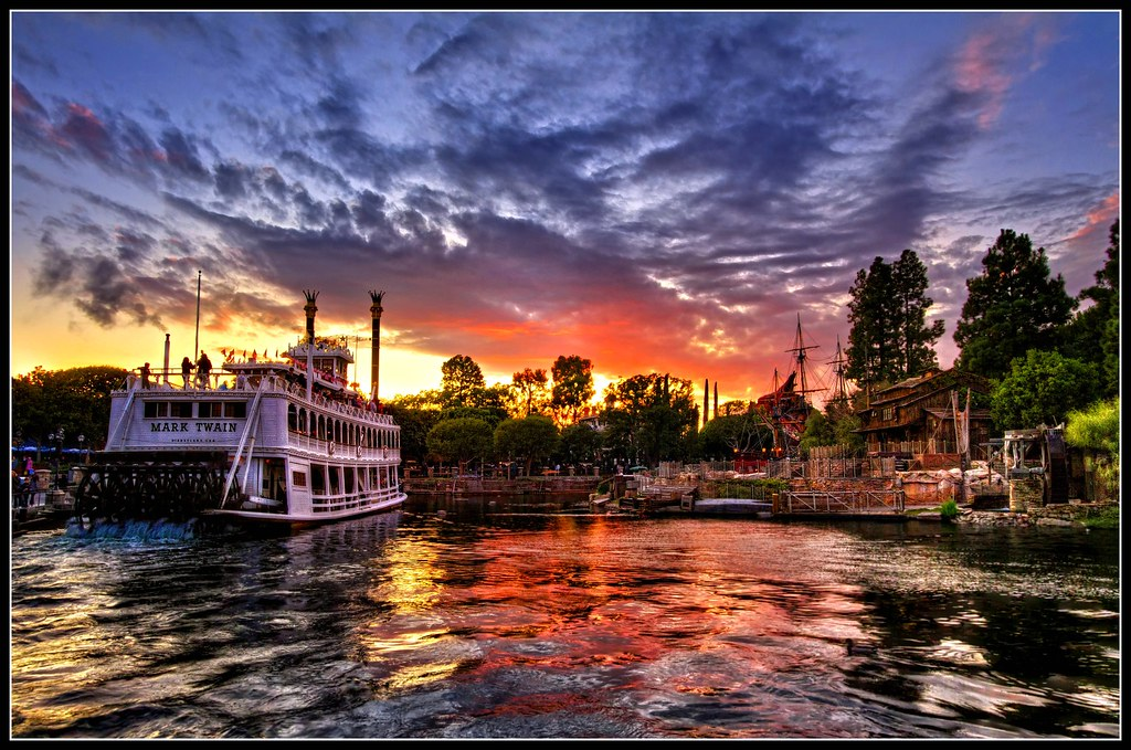 Club America Wallpaper 3d Sunset On Rivers Of America Disneyland This Was The