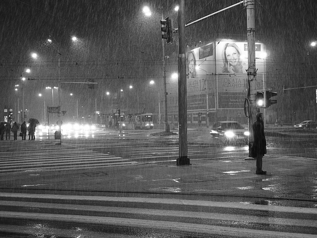 Paint Falling Wallpaper Heavy Rain Amp Snow Winter Night In Stettin 7th December 2
