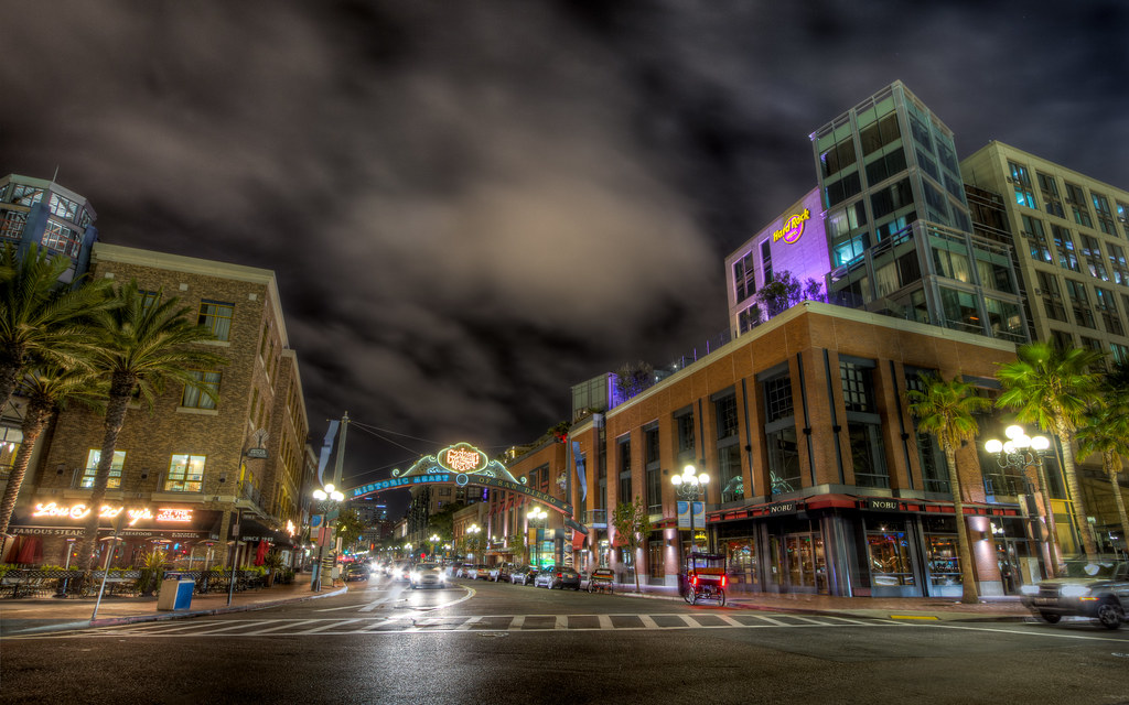Neon Wallpaper Hd 3d San Diego Gaslamp District Archway The Default Size For