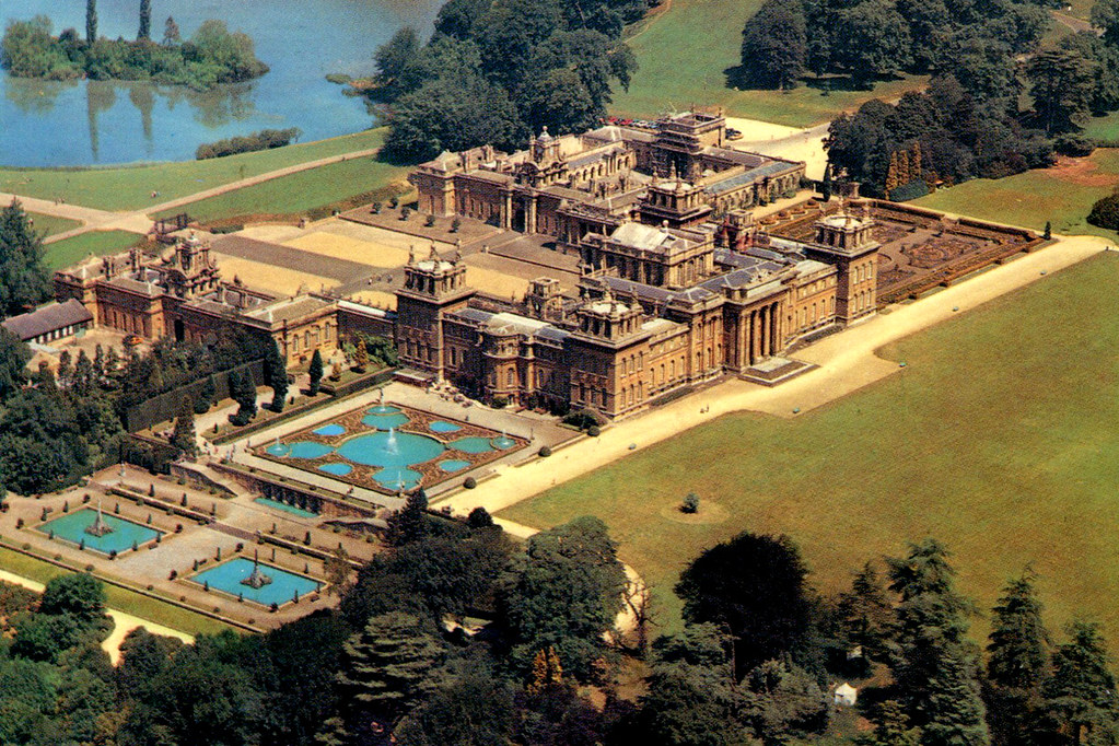 3d War Wallpaper Blenheim Palace Air View Postcard A Postcard Air
