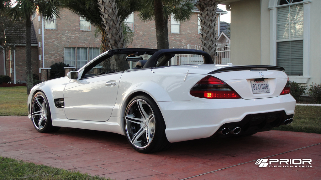 Mercedes Sl Mercedes Sl65 Widebody Amg By Prior Design With Forgiato 2