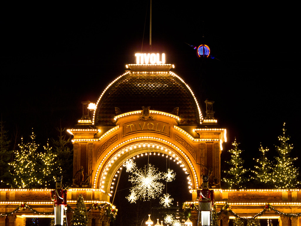 Tivoli Denmark English Tivoli Gardens Copenhagen Situated In The Very Heart