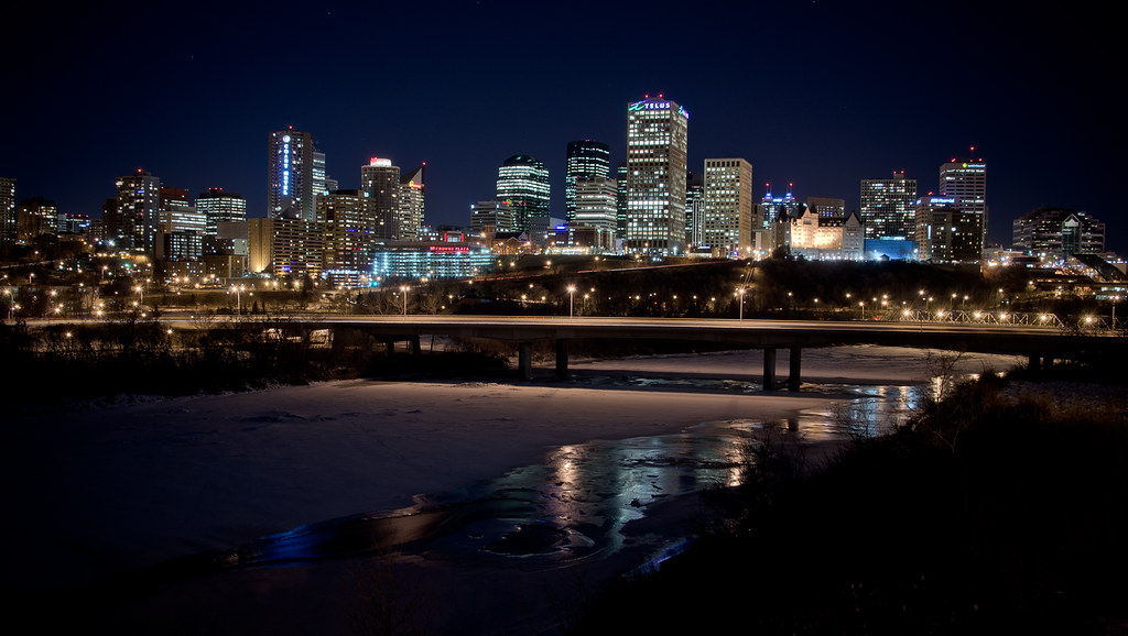 3d Wallpaper City Lights Edmonton Skyline Kurt Bauschardt Flickr