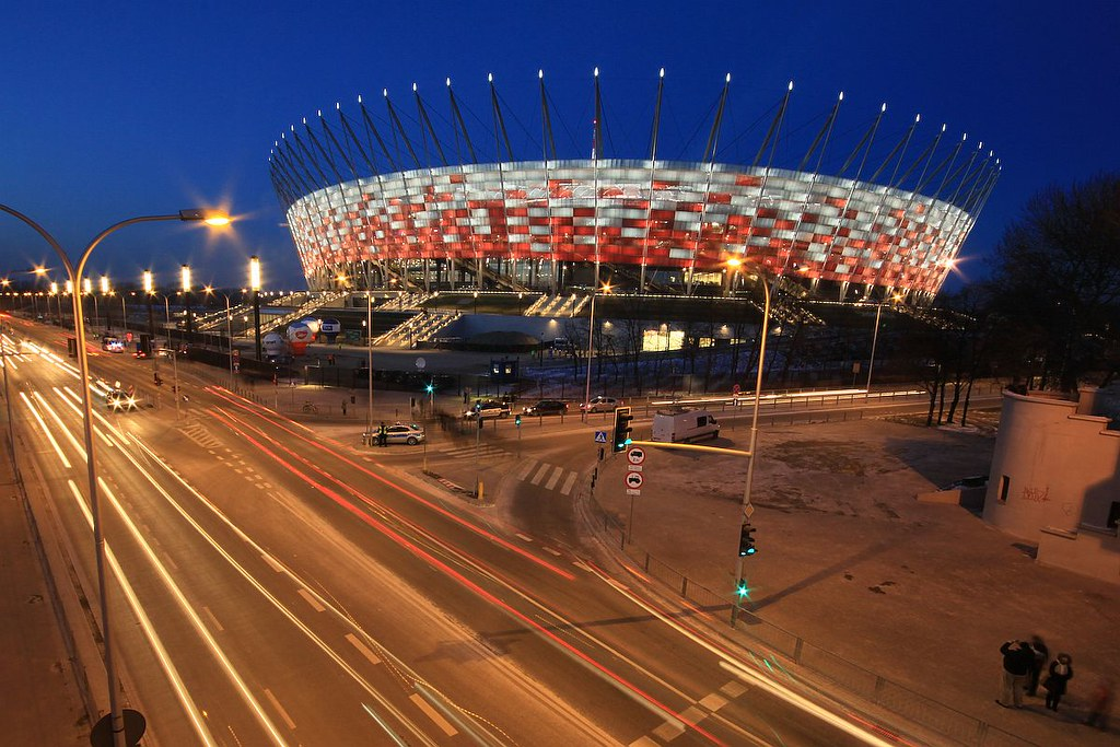 3d Football Stadium Wallpaper Poland National Stadium In Warsaw Warszawa Stadion Nar